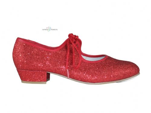 Tappers & Pointers Red Glitter Tap Shoes